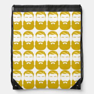 Multiple Yellow Beards Drawstring Backpack