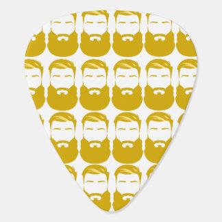 Multiple Yellow Beards Guitar Picks