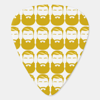 Multiple Yellow Beards Guitar Picks Plectrum