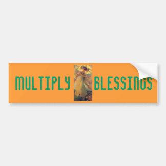 Multiply Blessings bumper sticker