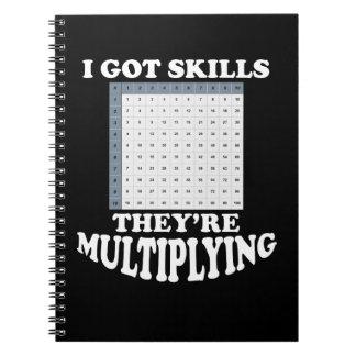 Multiplying Math Skills Notebook