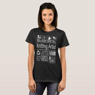Multitasking Knitting Artist lifestyle tshirt