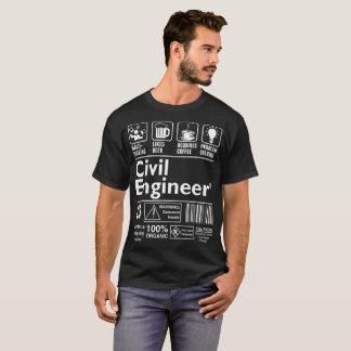 Multitasking Likes Beer Coffee Civil Engineer T-Shirt