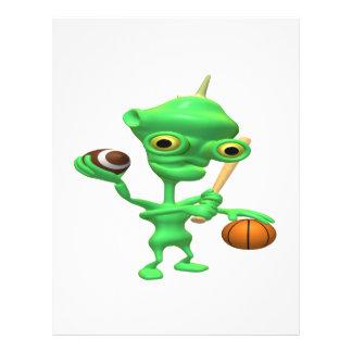 Multitasking Sports Alien Flyer Design