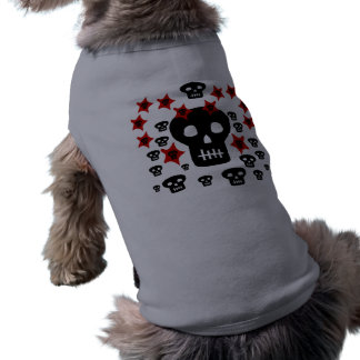 Multitude of Skulls With Weird Stars Dog Clothes