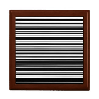 Multitudes of Uneven Black and White Stripes Gift Box