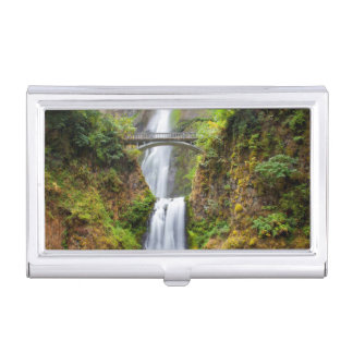 Multnomah Falls Along The Columbia River Gorge Business Card Case