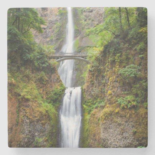Multnomah Falls Along The Columbia River Gorge Stone Coaster