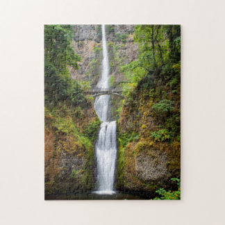 Multnomah Falls Along The Columbia River Gorge Puzzle