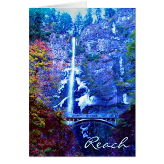 Multnomah Falls Bridge Greeting Cards