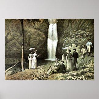 Multnomah Falls Corbett Oregon Edwardian Wall Art