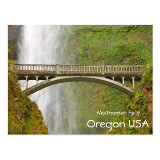 Multnomah Falls in Oregon Postcard