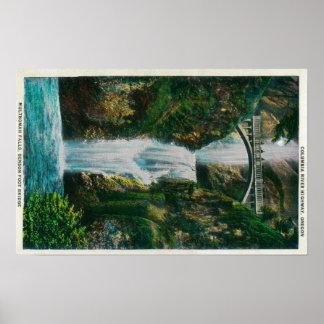 Multnomah Falls on Columbia River Poster