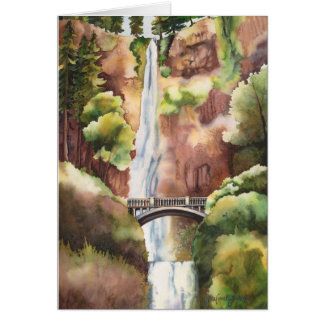 Multnomah Falls Oregon Card