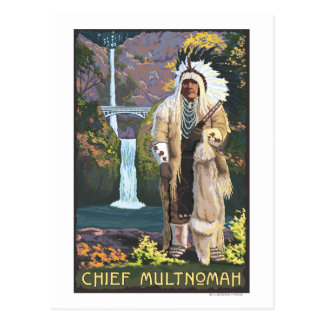 Multnomah Falls, OregonChief Multnomah Postcard