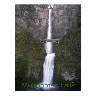 Multnomah Falls Travel Postcard