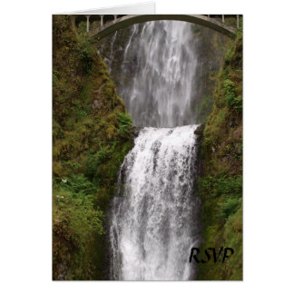 Multomah Falls with Bridge Wedding Card