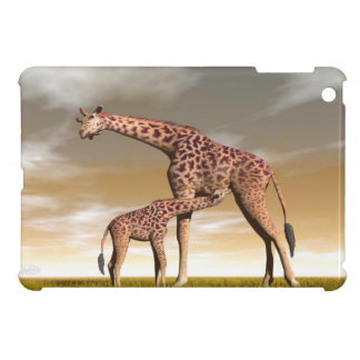 Mum and baby giraffe - 3D render Case For The iPad Mini