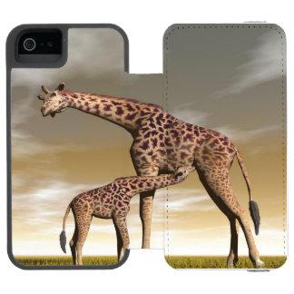 Mum and baby giraffe - 3D render Incipio Watson™ iPhone 5 Wallet Case