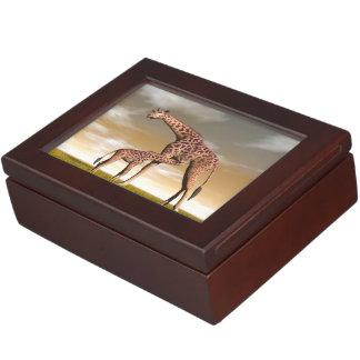 Mum and baby giraffe - 3D render Memory Box