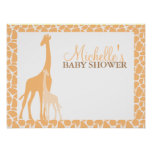 Mum and Baby Giraffe Baby Shower Welcome Sign
