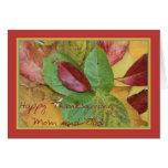 Mum and Dad fall foliage thanksgiving greeting Greeting Card