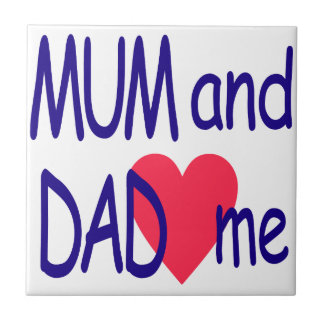 Mum and dad me, mom ceramic tile