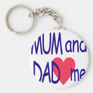 Mum and dad me, mom key ring