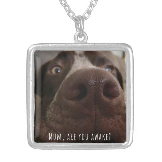 Mum, are you awake? silver plated necklace