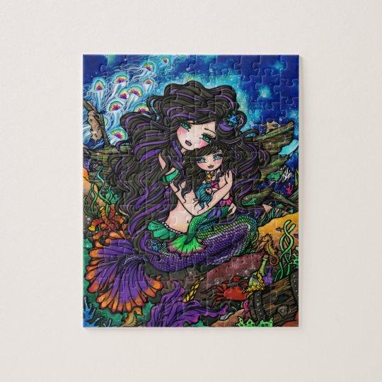 Mum & Baby Mermaid Fantasy Marine Art Puzzle