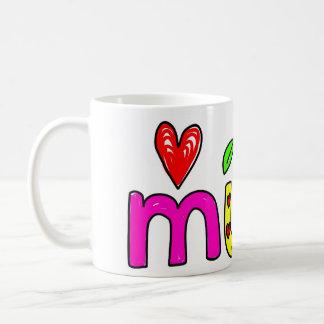 mum basic white mug