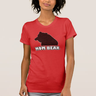 Mum Bear Red-Patterned Mother's T-Shirt