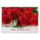 Mum Birthday card with red roses