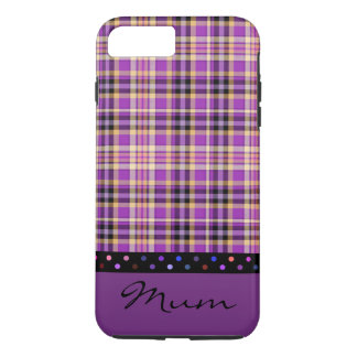 Mum Country Purple Tartan Design Mobile Phone Case