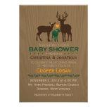 Mum, Dad & Baby Deer -  Baby Shower Invitation