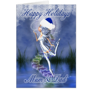 Mum & Dad - Happy Holidays - Christmas Card - Fros