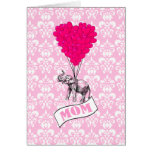 Mum, elephant and heart balloons