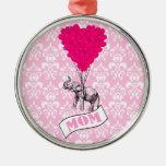 Mum, elephant and heart balloons ornaments
