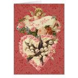 Mum, Happy Valentine's Day, vintage angel, roses