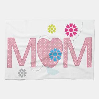 Mum Hearts And Flowers Tea Towels