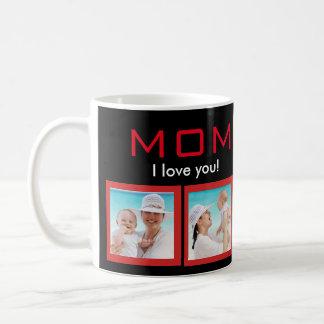 Mum I love you Photo Collage White Classic Mug