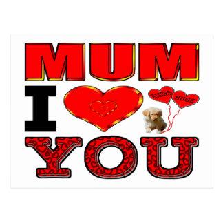 Mum I Love You Postcard