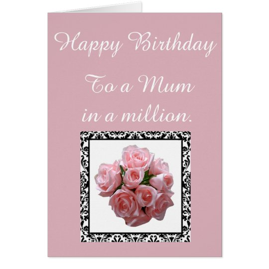 Mum in a Million. Birthday Card. Card