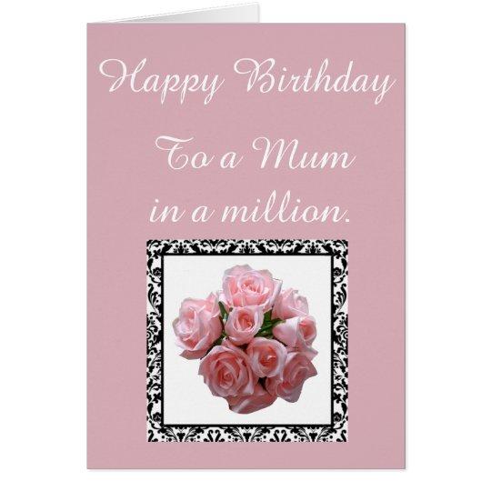 Mum in a Million. Birthday Card. Card