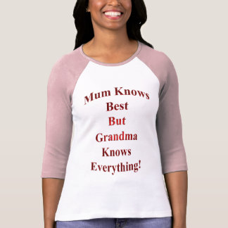 Mum Knows Best But Grandma Knows Everything! Tee Shirt