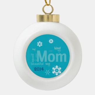 Mum Morning Snow Template Ornament