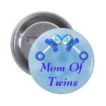 Mum Of Twin Boys Button