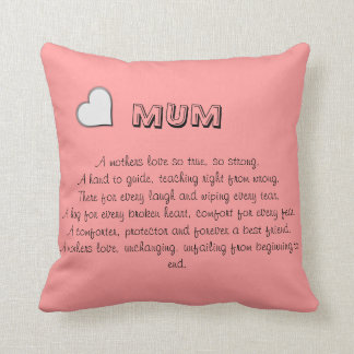 Mum pillow with verse