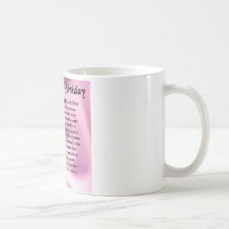 Mum Poem  -  70th Birthday Coffee Mug