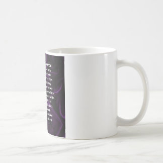 Mum Poem - Purple Silk Coffee Mug